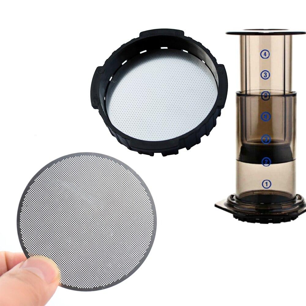 4 шт. аэраперсный фильтр для кофе из нержавеющей стали дисковый металлический ультра фильтр для аэраперса Кофеварка кухонные принадлежности для кофе|Фильтры для кофе|   | АлиЭкспресс