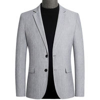 Mens Blazers Autumn Men's Fashion Suit Jacket Coat Spring Business Casual Slim fit Handsome British Suit Jacket Male Outerwear