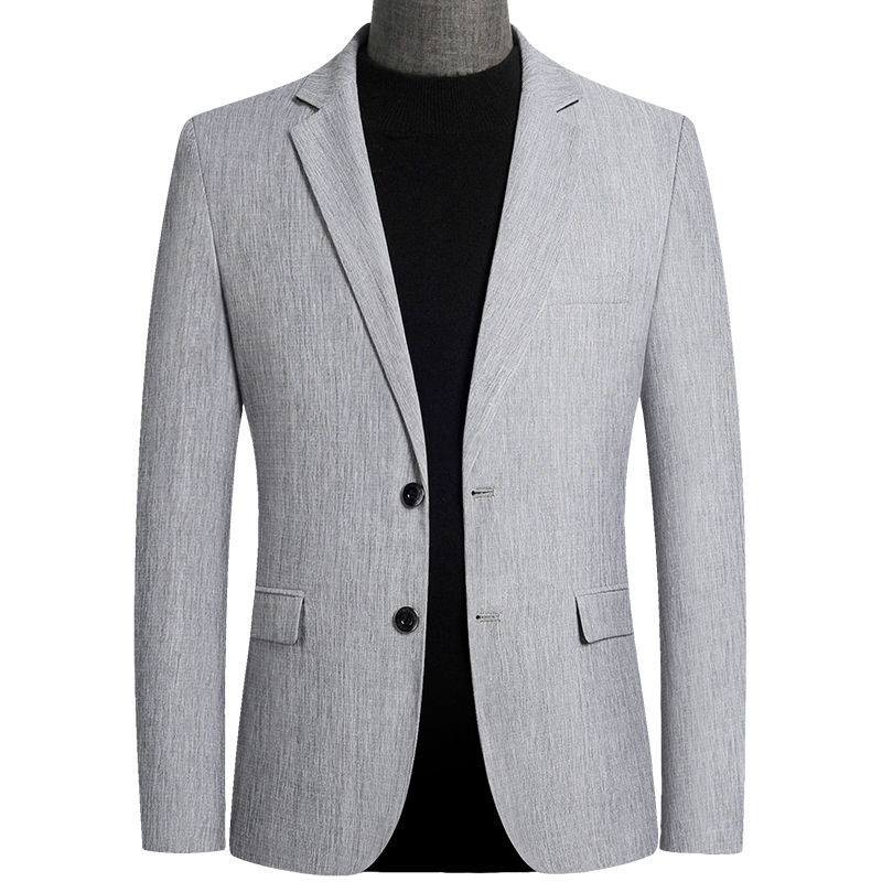 Mens Blazers Autumn Men's Fashion Suit Jacket Coat Spring Business Casual Slim Fit Handsome British Suit Jacket Male Outerwear