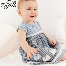 ZAFILLE 2020 New Baby Girl Clothes Short Sleeve Kids Summer Dress Infant Toddler Striped Dress Patchwork Casual Girls Clothing fhadst new striped patchwork character girl dresses long sleeve cute mouse children clothing kids girls dress denim kids clothes