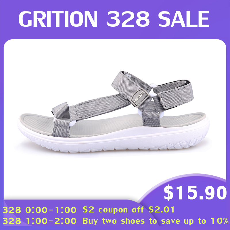Image 2 - GRITION Women Outdoor Quick Drying Flat Sandals Ladies Soft Light Weight Beach Sandals Fashion Summer Casual Walking Shoes BlueBeach & Outdoor Sandals   -