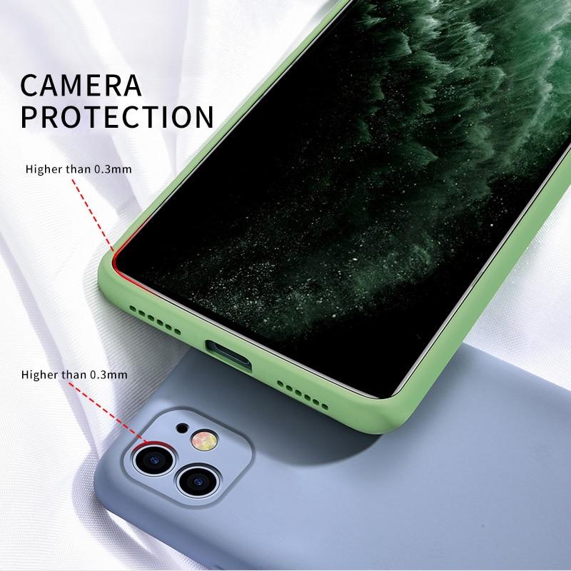 Coque de téléphone en silicone pour iPhone 11 12 Pro SE 2, étui de protection complète, original et chic, souple pour modèles X XR 11 XS Max 7 8 6 6s 3