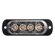4Led Strobe Warning Light Strobe Grille Flashing Lightbar Truck Car Amber Lamp  цена 2017