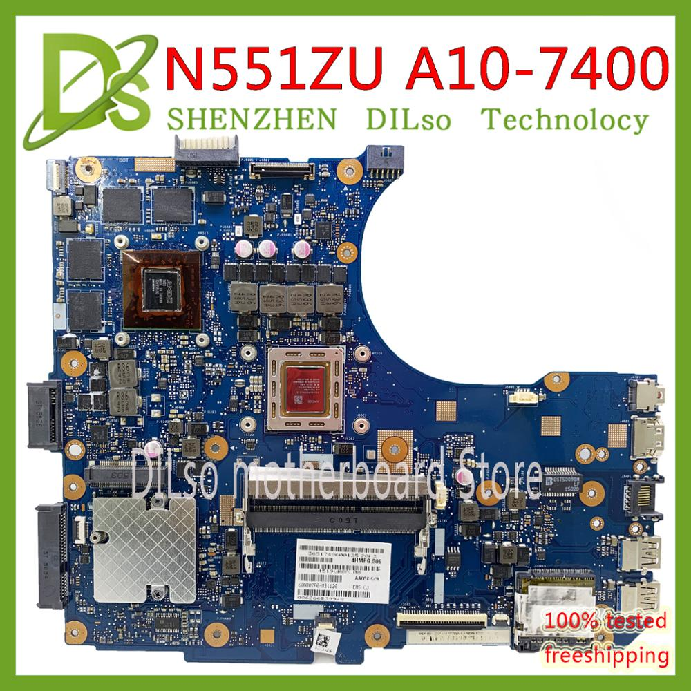 KEFU N551ZU motherboard For <font><b>ASUS</b></font> <font><b>N551V</b></font> N551Z N551ZU N551VW Laptop Motherboard A10-7400 CPU Test work 100% image
