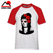 New Lips Inked Girl Tattoo Icon Hot Punk Rock Sexy Art Gift Party Men T-Shirt Male Short Sleeve Print Summer Trend Art T Shirt(China)