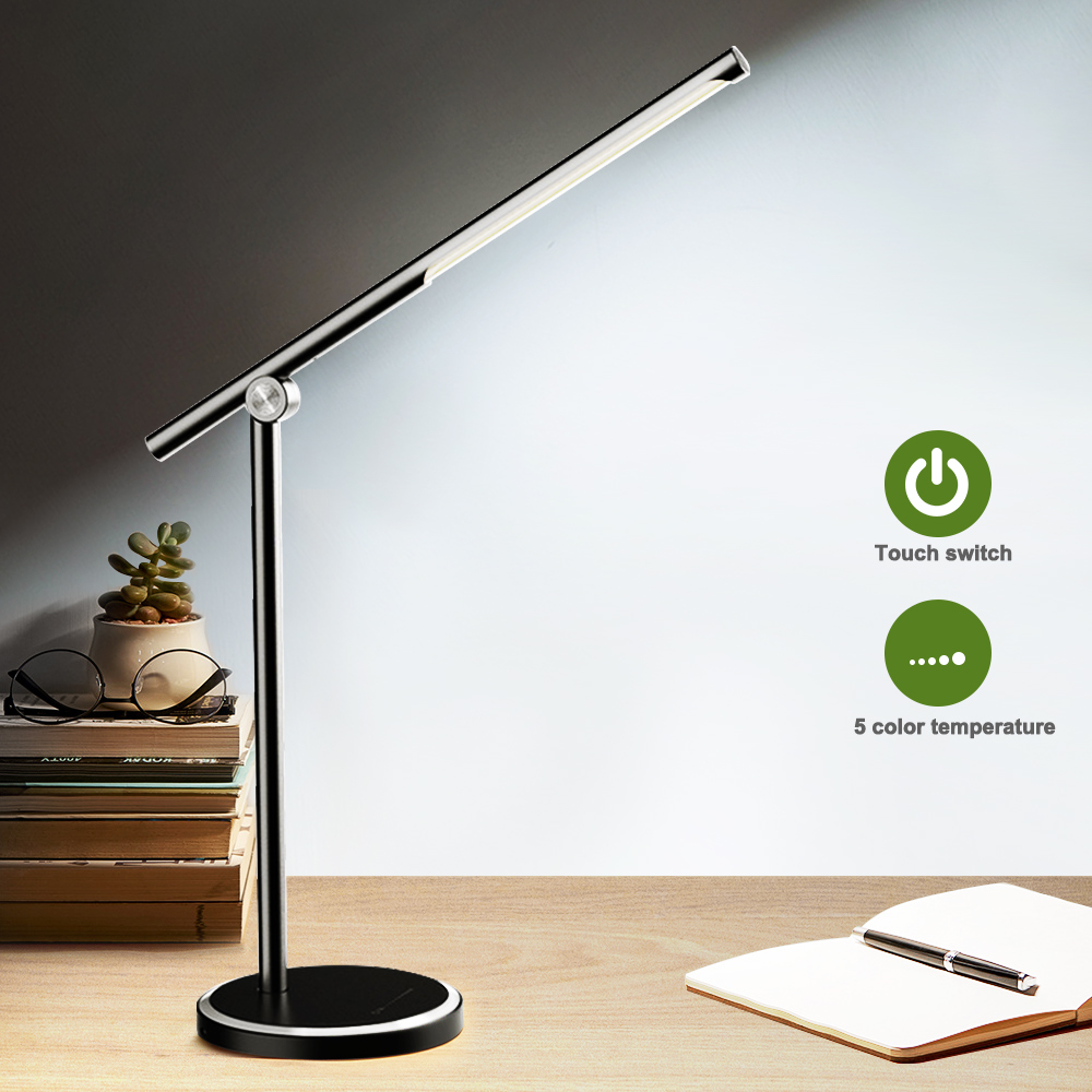 LED Desk Lamp 5 Color Modes Dimable Levels Touch Control USB Chargeable Reading Eye-protect With Timer Led Table Reading Lamp