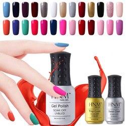 HNM 8 мл УФ-гель для ногтей Светодиодная лампа Гель-лак 58 цветов Гель-лак чистые цвета Полупостоянный Гель-лак грунтовка для ногтей основа