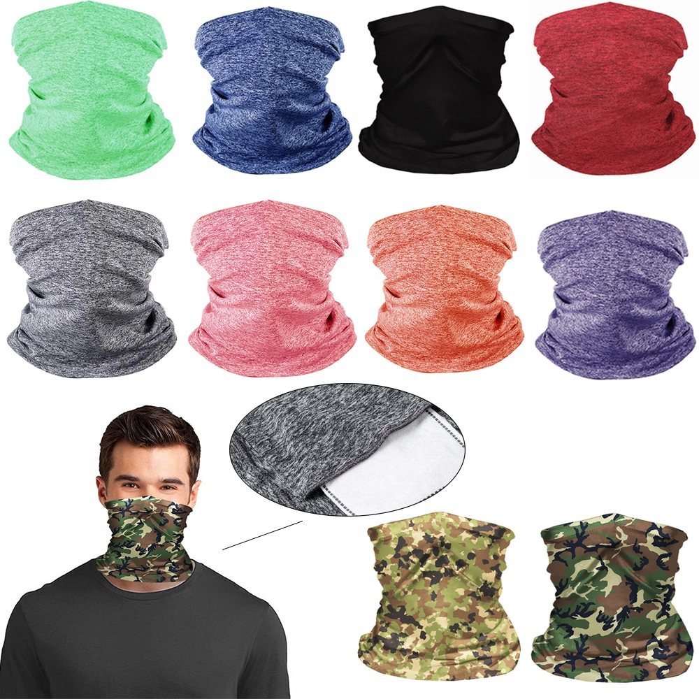 Beisike 9Pcs Magic Scarf Outdoor Headwear Bandana Sports Tube UV Face Mask Cycling Scarf for Motorcycle Bike Hiking Sun Wind Protection