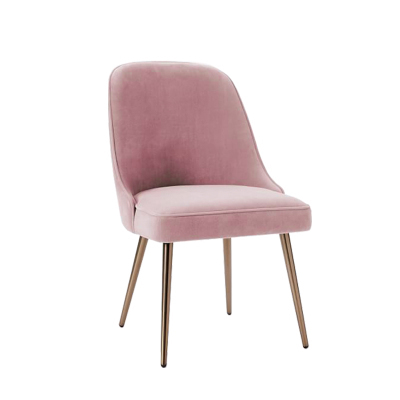H1 Iron Lounge Chair Cafe Chair Western Chair Pink Princess Chair Metal Back Office Modern Dining Chairs Solid Wood Dining Chair