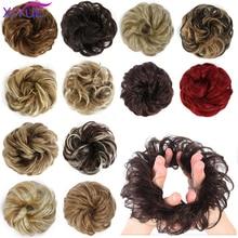 Extensions Hairpieces-Wrap Chignons-Hair Ponytail Hair-Tail-Updo Fake-Hair XIYUE Bun