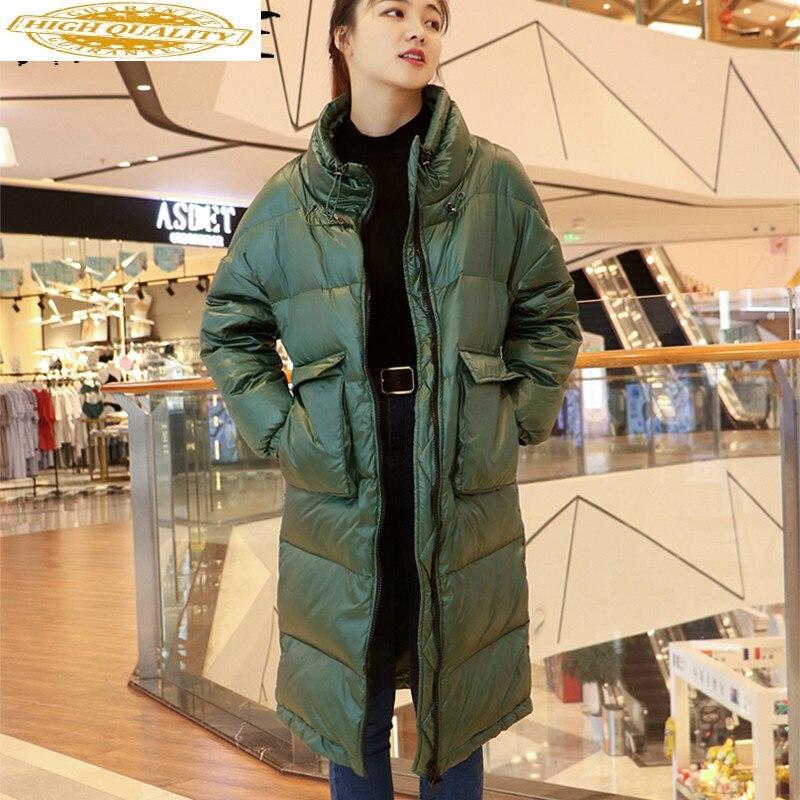 Winter Coat Women Korean Oversized White Duck Down Jacket Women Down Coat Long Puffer Jacket Parka Casaco YY1329