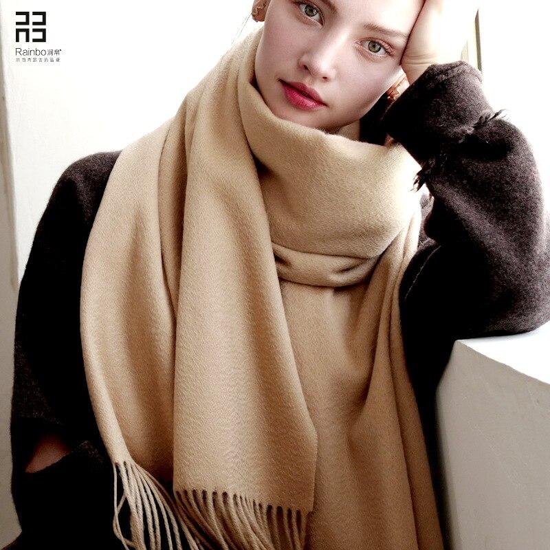 Fashion Real  100% Cashmere  Scarfs for Ladies  Poncho Women 200*60 CM Winter Scarf Women