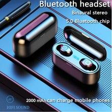 Wireless Earphone Bluetooth V5.0 F9 TWS Headphone LED Display With 2000mAh Power Bank Headset Microphone