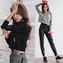 3pcs Autumn Women Sportswear Tracksuit Long Sleeve Yoga Top Sweatshirt+bra+sweatpants Casual Jogger Running Workout Set