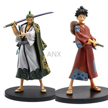 цена на 17CM One Piece Luffy Zoro Figure PVC Action Anime Figure Model Toys Model Toys Collection Doll Gifts Monkey D Luffy Roronoa Zoro