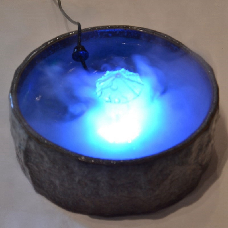 12 Led Lights 20Mm Single Head Ultrasonic Atomizer Air Humidifier Atomizing Lamp Rockery Water Bonsai Fog Fountain|Humidifiers| |  - title=