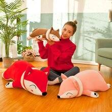 Милые плюшевые куклы чучела животных лиса игрушки Мягкая Подушка