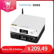 أعلى D50S Hifi USB DAC ES9038Q2M XMOS XU208 بلوتوث فك أمبير DSD المدخلات Caoxial البصرية 32Bit 768Khz مضخم الصوت