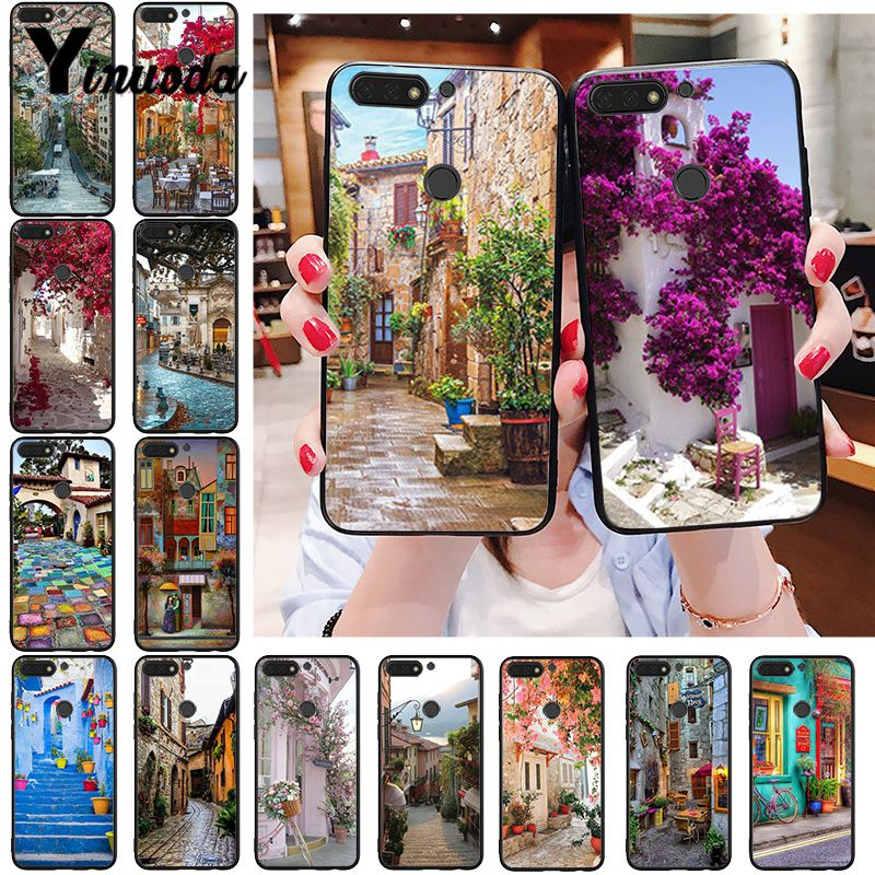 Yinuoda Travel Italy France London Beautiful Flower World Places Phone Case For Huawei Honor 8A 8X 9 10 20 Lite 7A 7C 10i 20i