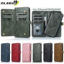 Flip Case For iPhone SE 2020 7 8 Luxury Leather Cover Wallet Etui For Apple Phone 8 Capa Card Holder Funda Magnetic Coque Shell