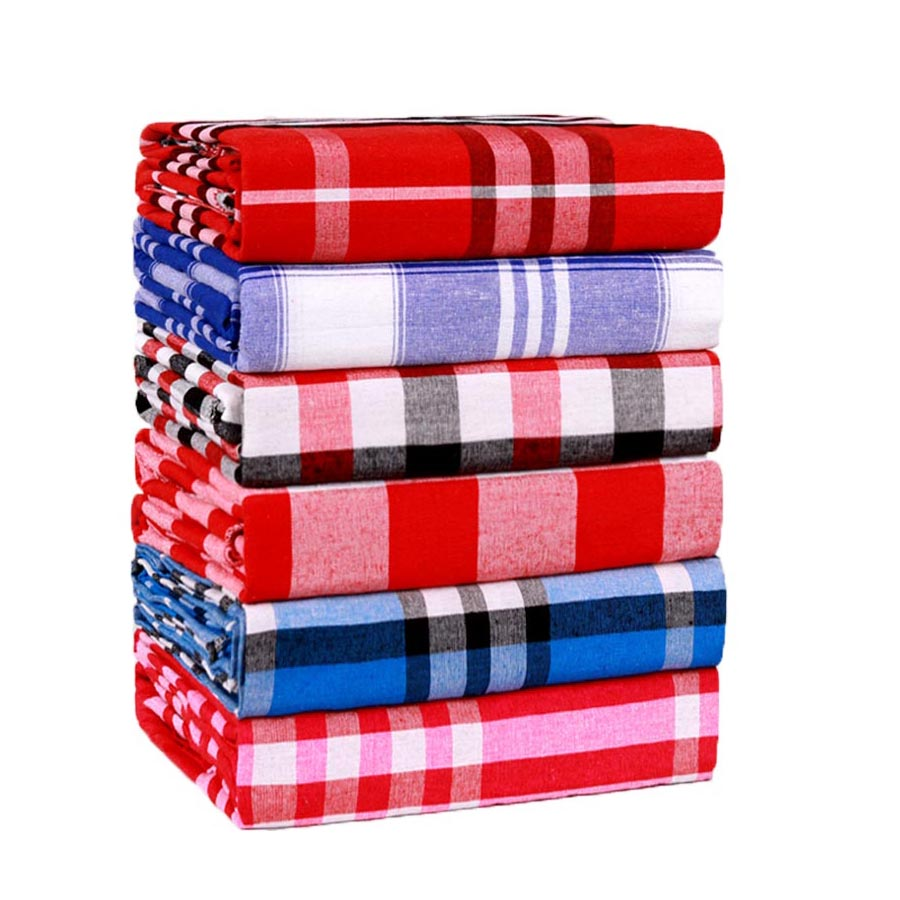 WOSTAR Bohemian retro plaid bed sheet set and pillowcase soft cozy home textile luxury bedding single double queen king size