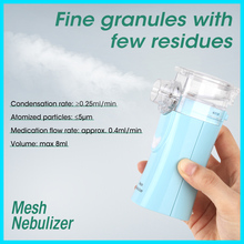RZ Portable Mesh Nebulizer Steam Device Ultrasonic Children Adult Rechargeable Automizer Medical Equipment RZ823 Mesh Nebulizer