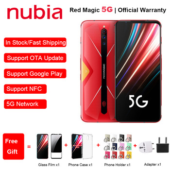 "Global Version ZTE Nubia Red Magic 5G Mobile Phone 6.65"" 8/12GB RAM 128/256GB ROM Snapdragon 865 Android 10 NFC Gaming Phone"