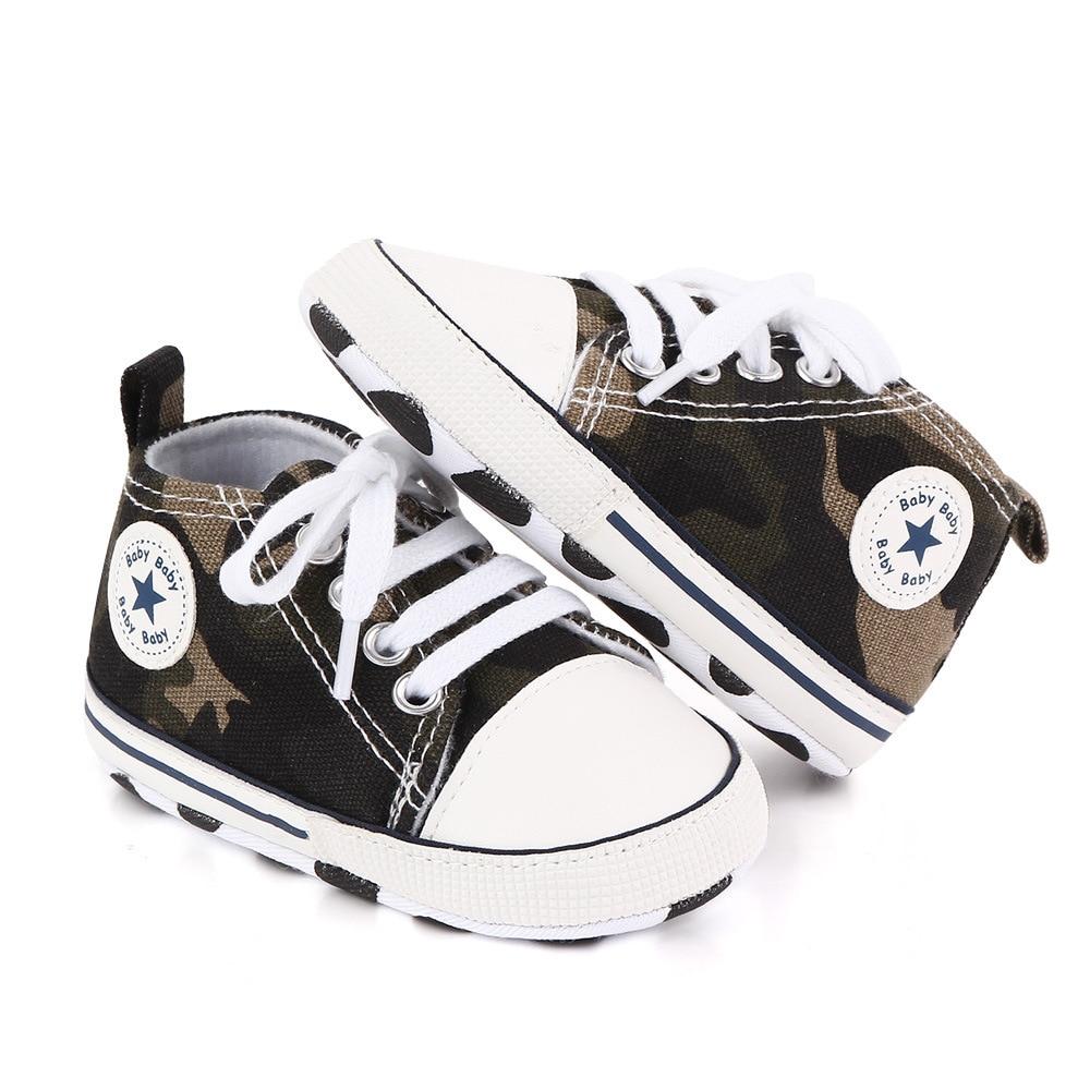 Детская обувь для мальчиков и девочек; Твердые кроссовки со звездами; Хлопковая мягкая нескользящая подошва; Обувь для новорожденных; Обувь для начинающих ходить; Повседневная парусиновая обувь для малышей 5