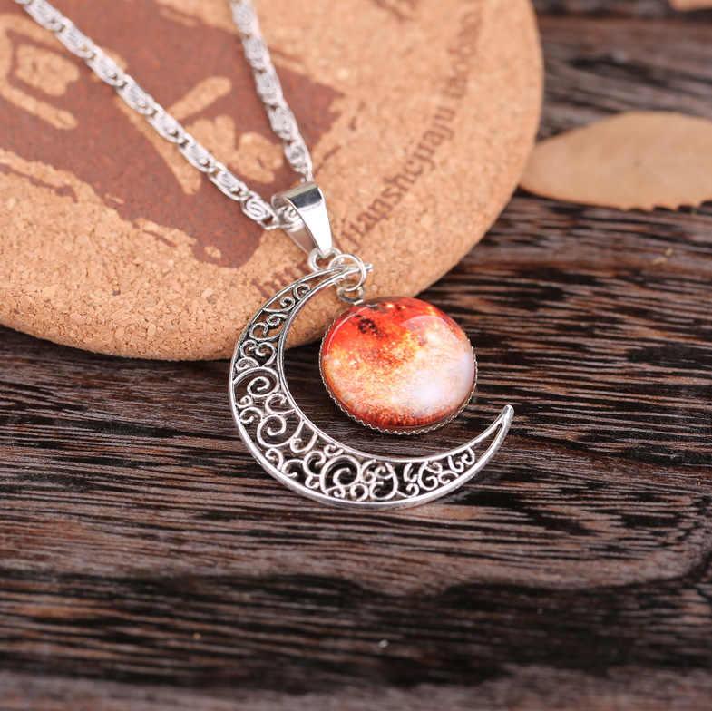 La nouvelle mode étoile lune temps gemme collier glace et neige étrange bijoux étoile étrange destin bijoux cadeau de fille