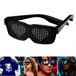 CHEMION Bluetooth светодиодный специальные атмосферные солнечные очки для ночного клуба на день рождения