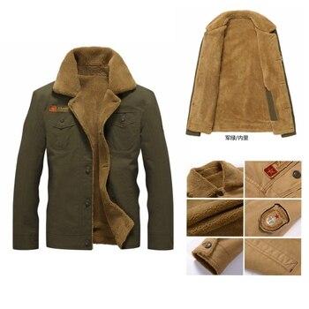 Man Jacket Cotton Lapel Coat Plus Thick Velvet Plus Size Large Vintage Retro American Casual Wear Warm Mantle Men Drop Shipping