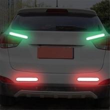 Car Reflective Stickers Car Door Wheel Eyebrow Sticker Decal Warning Tape Safety Mark Reflective Strips good