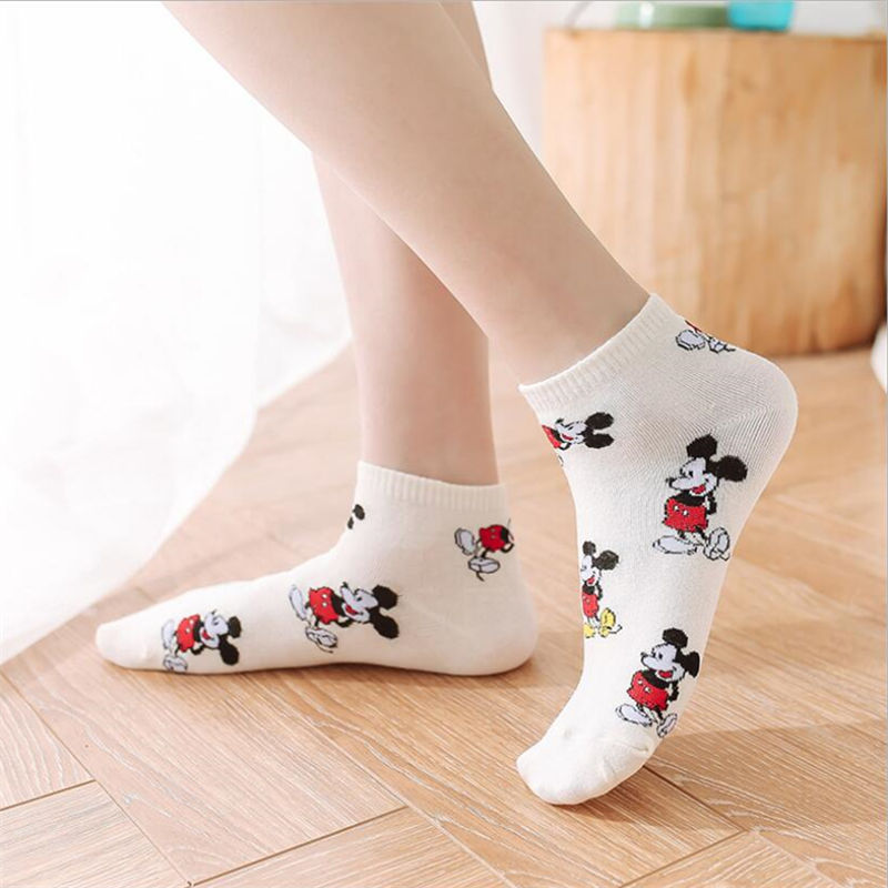 New Cartoon Women Socks Japanese Ladies Soft And Breathable Socks Cotton Boat Short Socks For Women