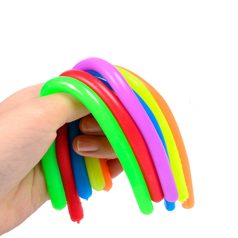 1/5 шт./компл. мягкая резиновая игрушка-Лапша для сосисок, эластичная веревка, стрейчевая игрушка для декомпрессии, стрейчевая игрушка для сн...