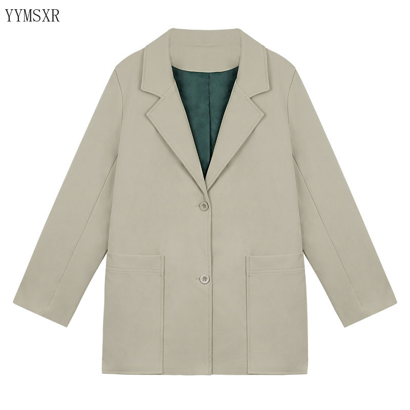 2020 Korean version of the new spring and autumn ladies suit feminine jacket Temperament Fashion Loose Single Breasted Blazer
