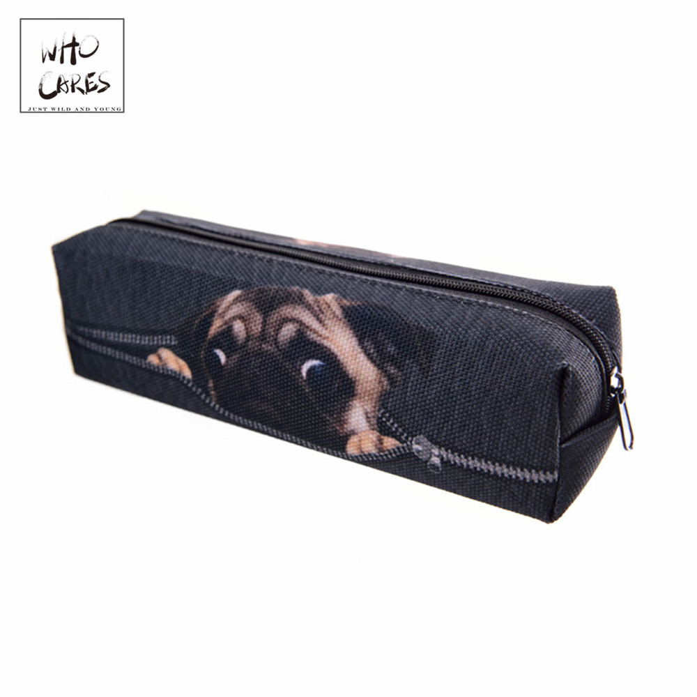 Pug Digital Black 3D Printing Cosmetic Bag New Fashion Women Makeup Bag Pencil Hot Necessaire Trousse De Maquillage Makyaj