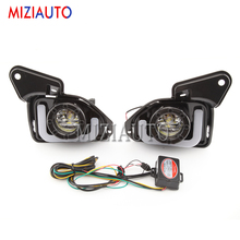 2pcs LED 12V ABS Car fog Lamp DRL Daytime Running Light For Toyota Hiace 2014 2015 2016 2017 2018 with Turn Signal car stlying led car drl daytime running lights with fog lamp hole for sylphy 2014 2015 2016 2pcs