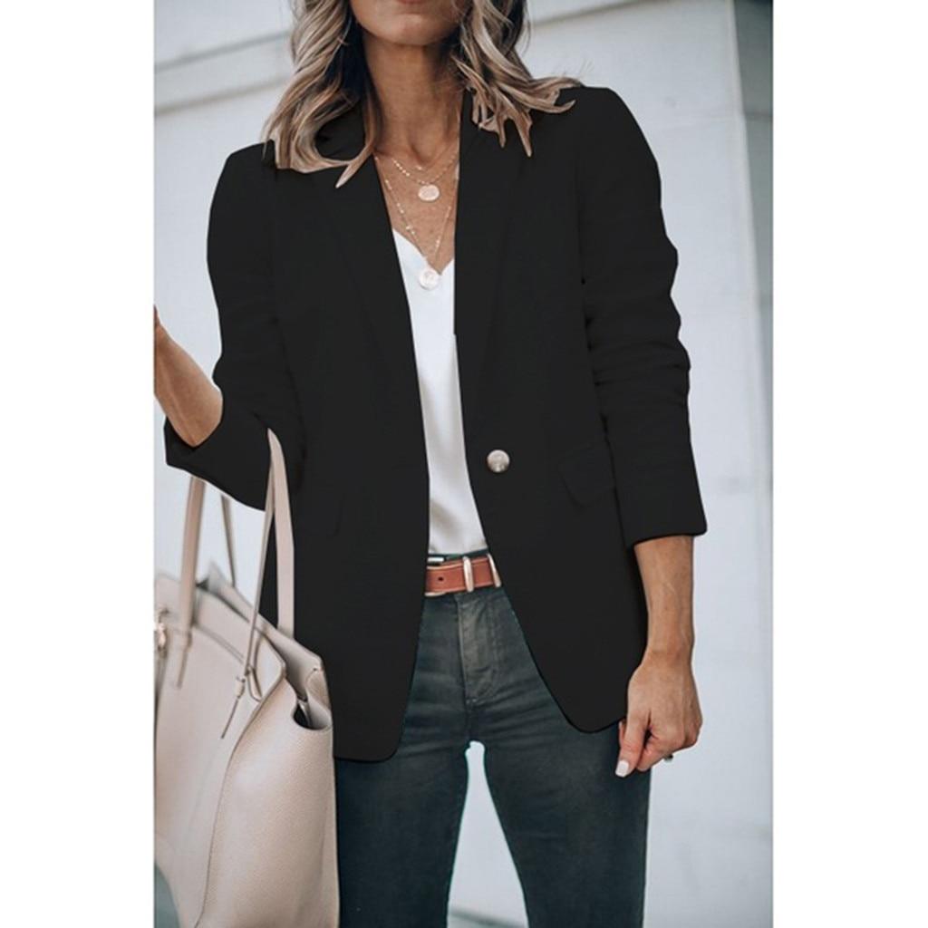 2019 Elegant Blazer Feminino Women Suits Jackets Office Ladies Long Sleeve Blazer Notched Collar Coat Female Outerwear Coat