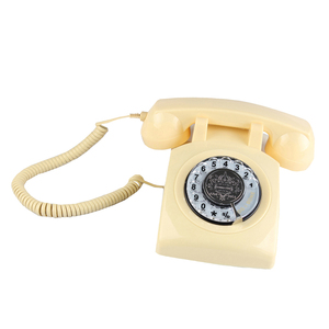 Image 5 - Retro Rotary Dial Home Phones, Old Fashioned Classic Corded Telephone Vintage Landline Phone for Home and Office