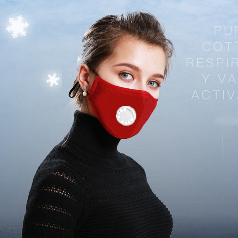 3pcs/5pcs Mouth Face Mask PM2.5  Dust Mouth Mask Respirator Mascaras With Carbon Filter Respirator Cotton Mask