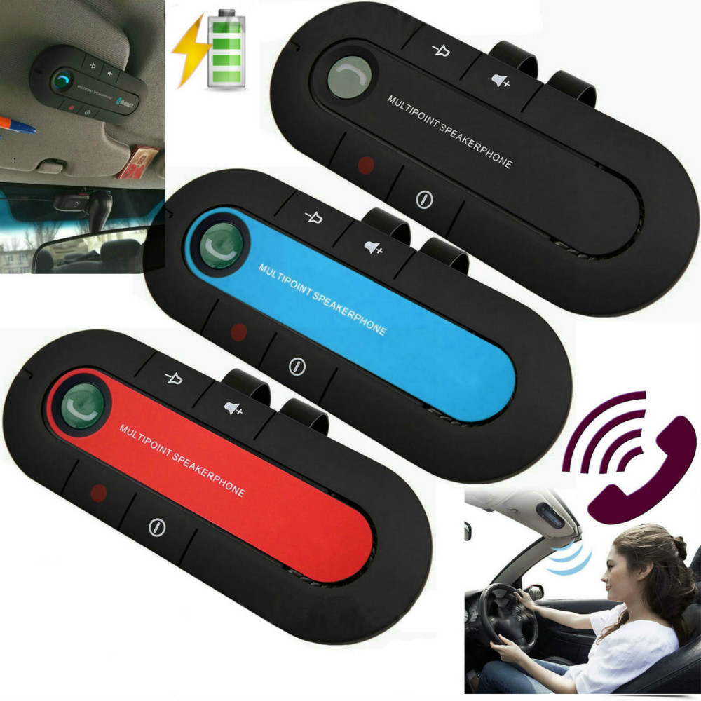 Portable Car Hands-free Bluetooth Receiver Clip-on Sun Visor Bluetooth Car Mobile Vehicle Speakerphone Music Receiver Wireless