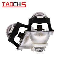 Taochis 2.5 Polegada wst mini farol bi xenon projetor len h4 h7 soquete para diy retrofit lâmpada da motocicleta alta baixo feixe h1 hid