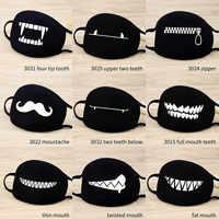 Stop Luft Verschmutzung Mund Gesicht Maske Unisex Baumwolle Niedlichen Cartoon Glück Bär Halten Warme Staubdicht Atmungsaktiv Frauen Männer Mund Masken