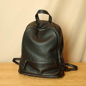 Women's Backpacks Genuine Leather Bag Female High Quality Casual Travel Knapsack Laptop Bags Ladies Pocket School Bags For Girls