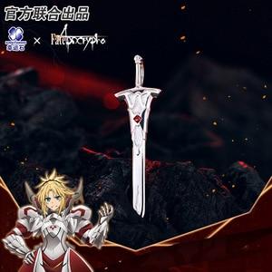 Image 2 - [Fate Apocrypha] Anime naszyjnik FA FGO 925 srebro biżuteria Sterling Manga rola Mordred czerwony z Saber Cosplay figurka prezent