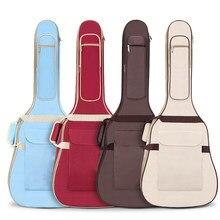 Instrumento sacos & casos guitarra ukulele capa à prova dwaterproof água material multi cores para 40/41 polegadas gitars mochilas