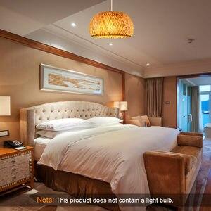 Image 1 - Китайская лампа из ротанга ручной работы, Бамбуковая люстра в стиле ретро для сада, ресторана, спальни, кафе, бара, гостиной