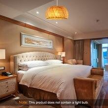 Chinese Lighting Rattan Lamp Hand Made Bamboo Chandelier Retro  For Garden Restaurant Bedroom Cafe Bar Lounge