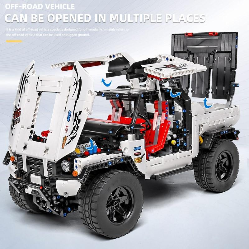 MOULD KING 18005 MOC-2412 RC Motorized Pick-Up 4X4 SUV