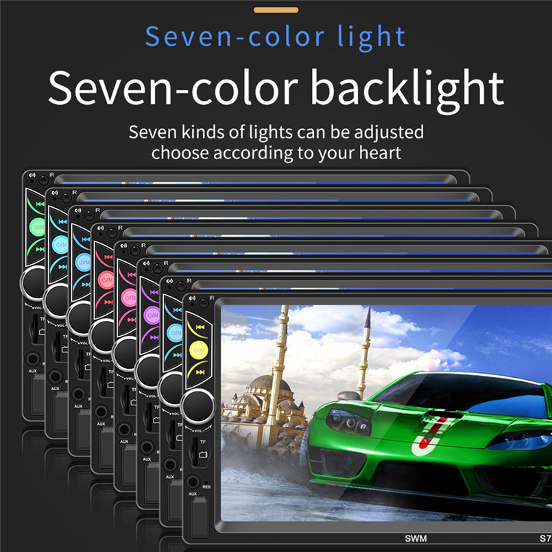 SWM-S7 7 Inch HD Touc-h Big Screen Car BT MP5 Player Car MP3 Card Machine FM With CD Player DVD 50AUG1213
